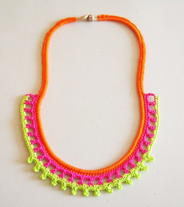 neon necklace collar ne n chabepatterns